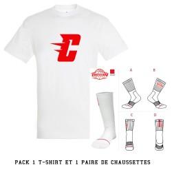Pack t-shirt blanc et...