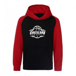 Sweat capuche bicolore enfant